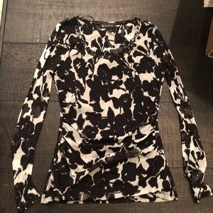INC floral blouse